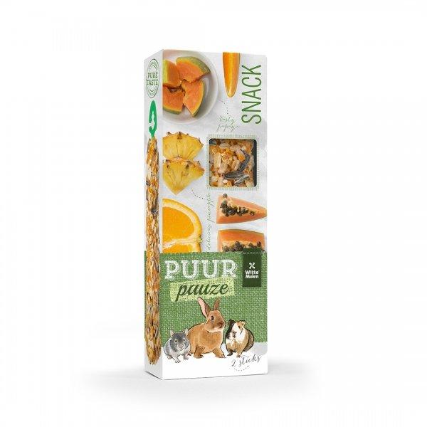 PUUR Pauze Stick sinaasappel/papaja