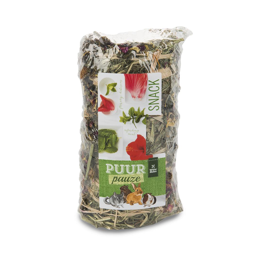 PUUR Pauze Hooirol hibiscus/munt